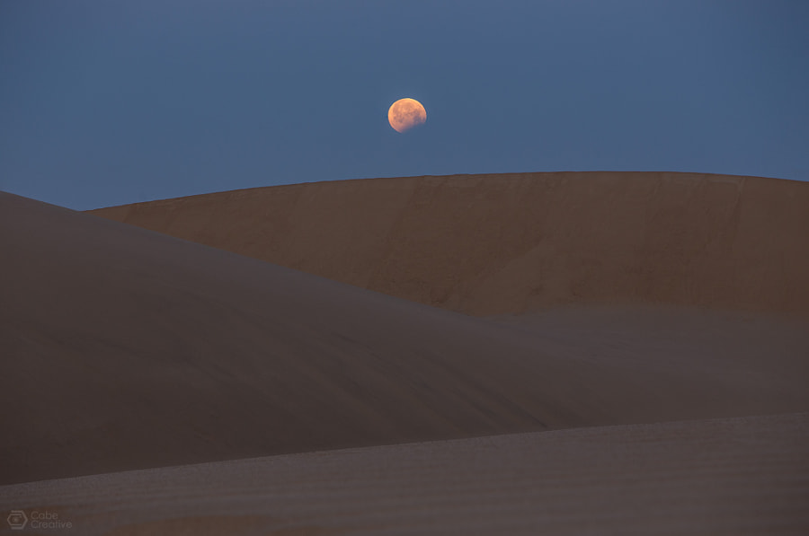 Photograph Blood Moon Setting by Cabe Creative on 500px
