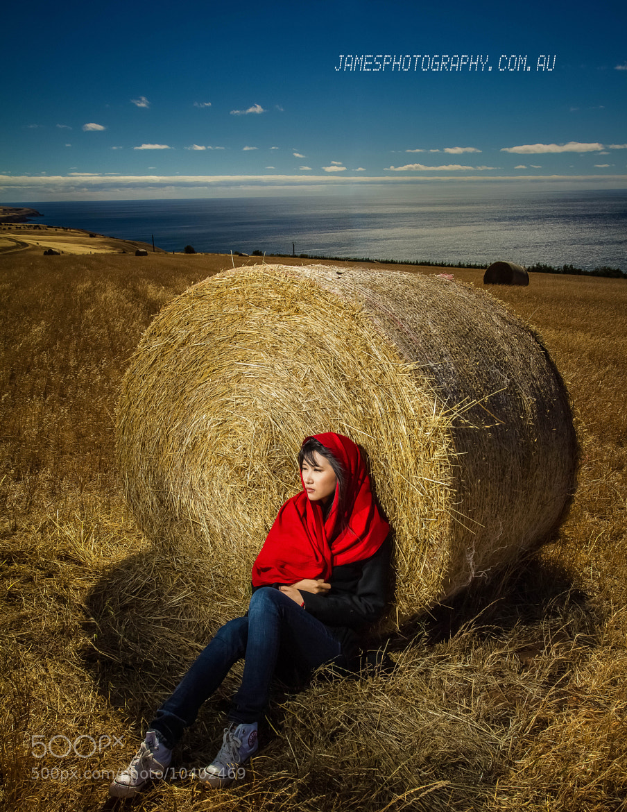 Photograph Cherica @ Sellecks hill's bales by James PhotoGraphy on 500px