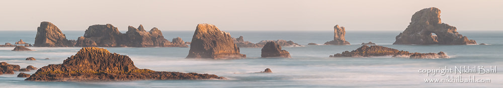 Photograph Sea Stacks Panorama by Nikhil Bahl on 500px
