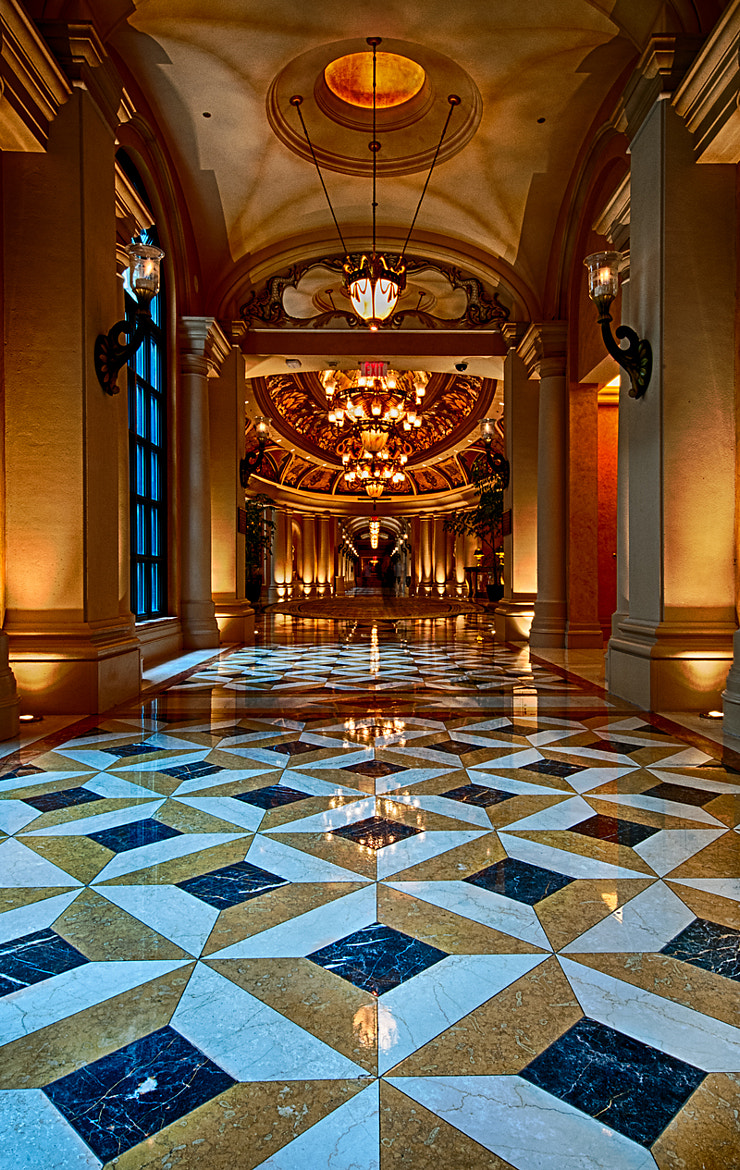 Photograph Hallway at the Venetian Resort by Mitchell Sacks on 500px