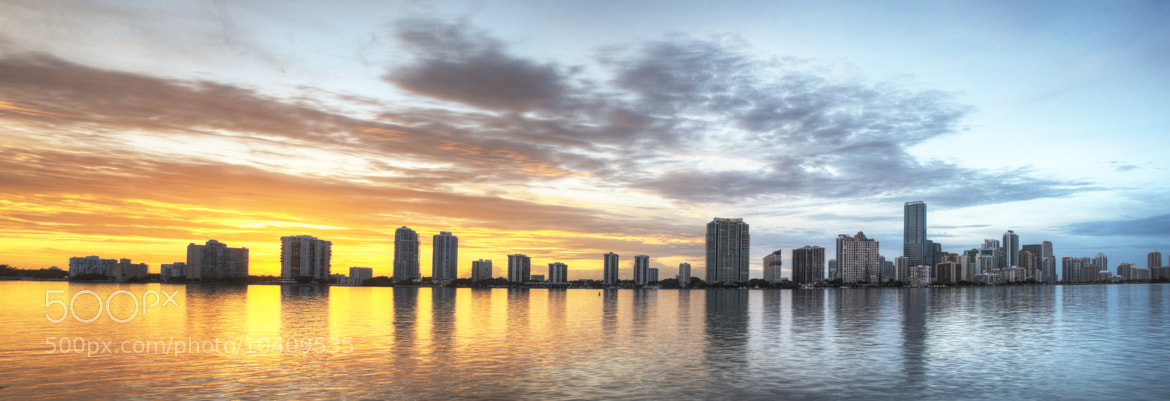 Photograph HDR of Miami Skyline by Jesse  Kunerth on 500px