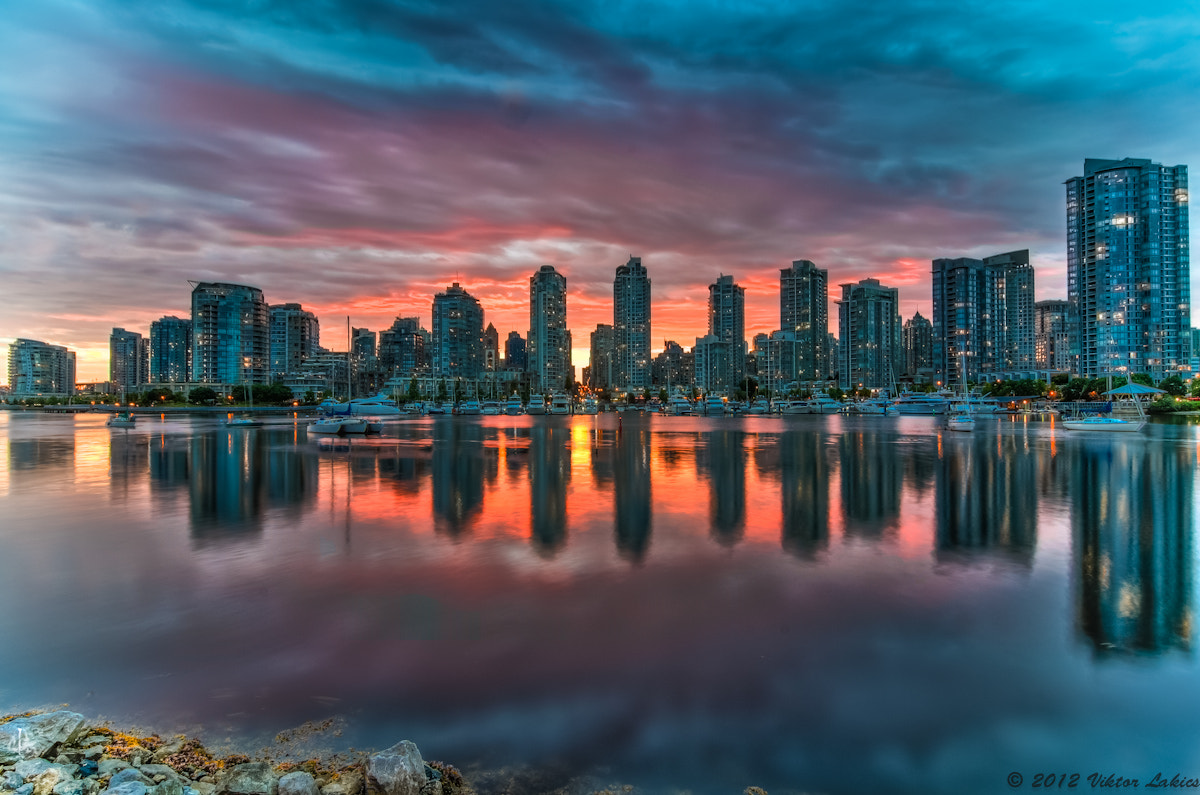 Photograph Stormy Sunset at False Creek by PhotonPhotography -Viktor Lakics on 500px