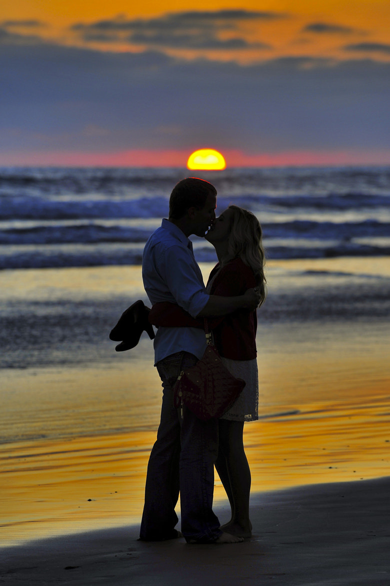 Photograph Couple Kisses at Sunset in Oceanside- July 24, 2012 by Rich Cruse on 500px