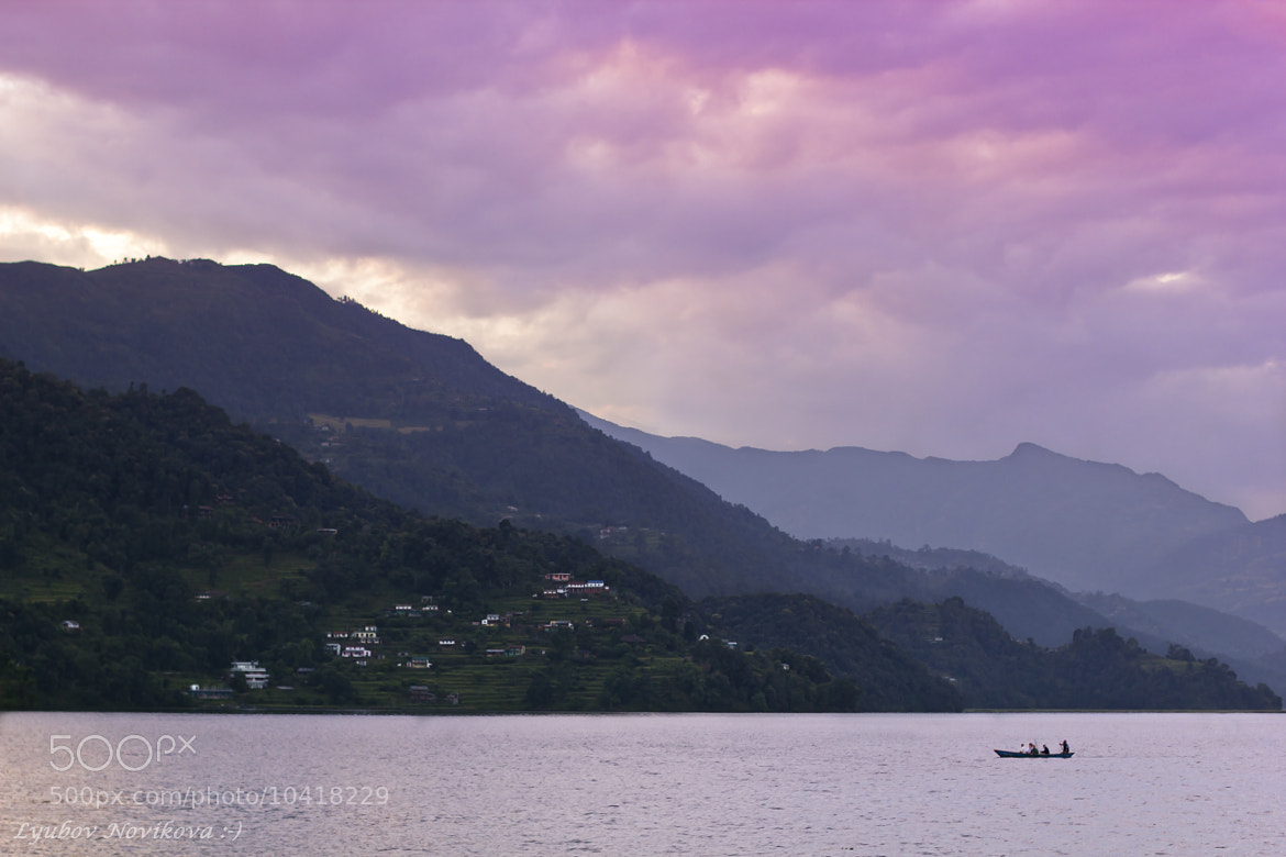 Photograph Evening on Lake Phewa by Lyubov Novikova on 500px