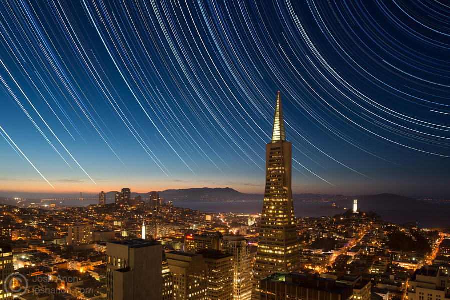 Stars Over Downtown San Francisco 2 by Josh Anon on 500px.com