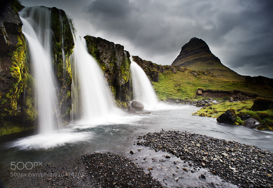Photograph Kirkjufells Waterfall by Snorri Gunnarsson on 500px