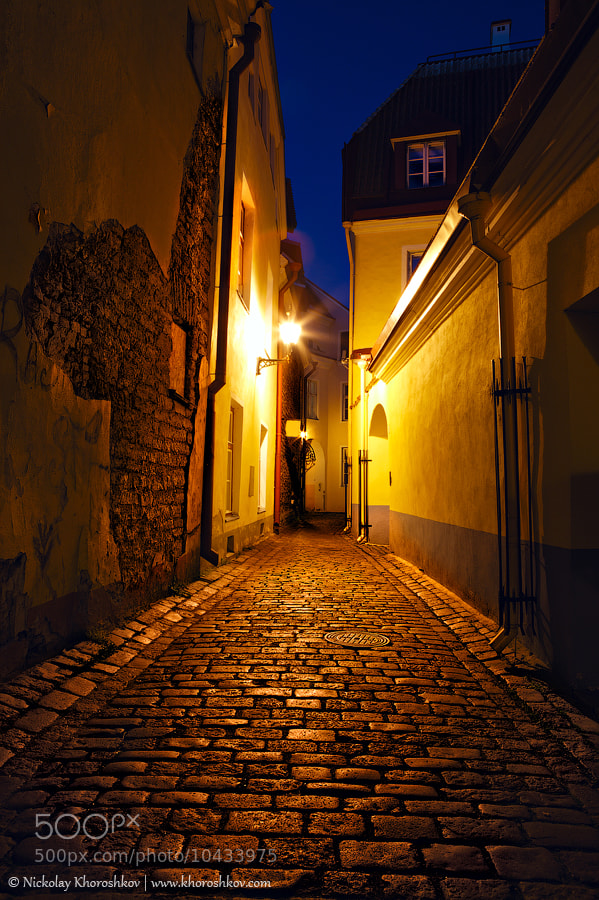 Photograph Old European sreet at night by Nickolay Khoroshkov on 500px