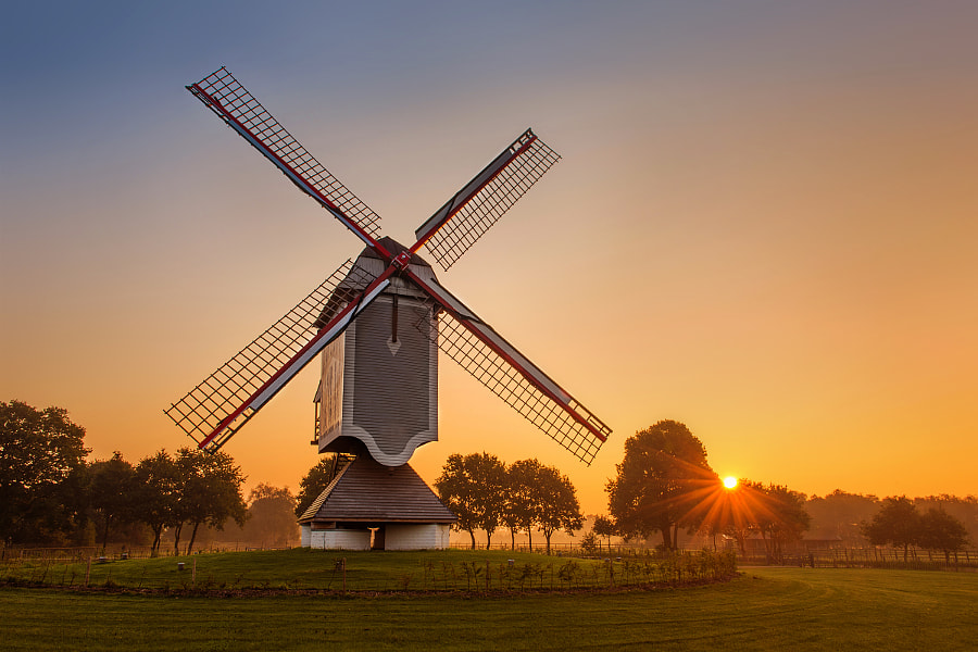 Sunrise at the Leyssensmill by Stefan Cruysberghs on 500px.com