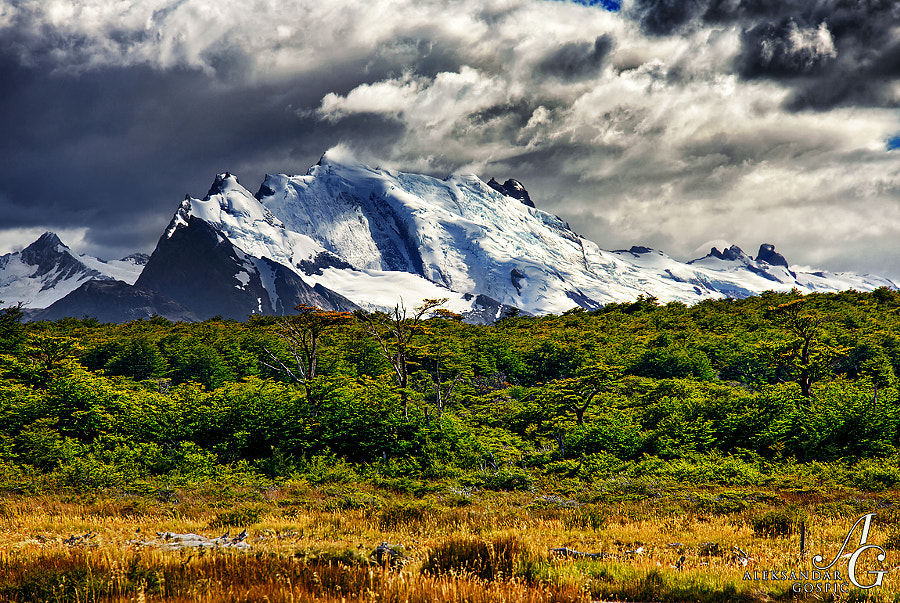 Indescribable beauty of the Andes as seen from the Fitz Roy trail  Los Glaciares NP, Patagonia, Argentina