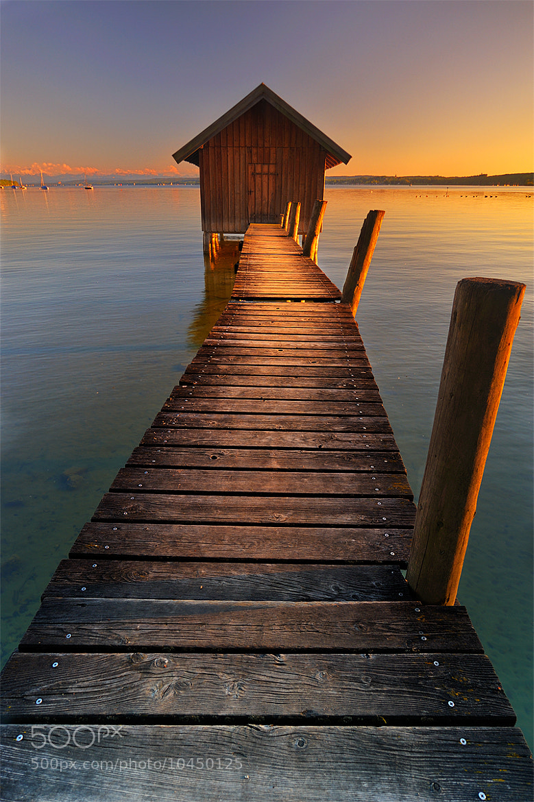 Photograph twilight boathouse by Dennis B on 500px