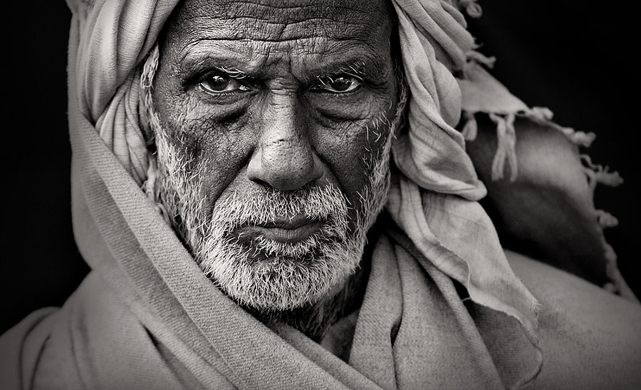 black and white portrait Photograph *** by Rudra Mandal on 500px