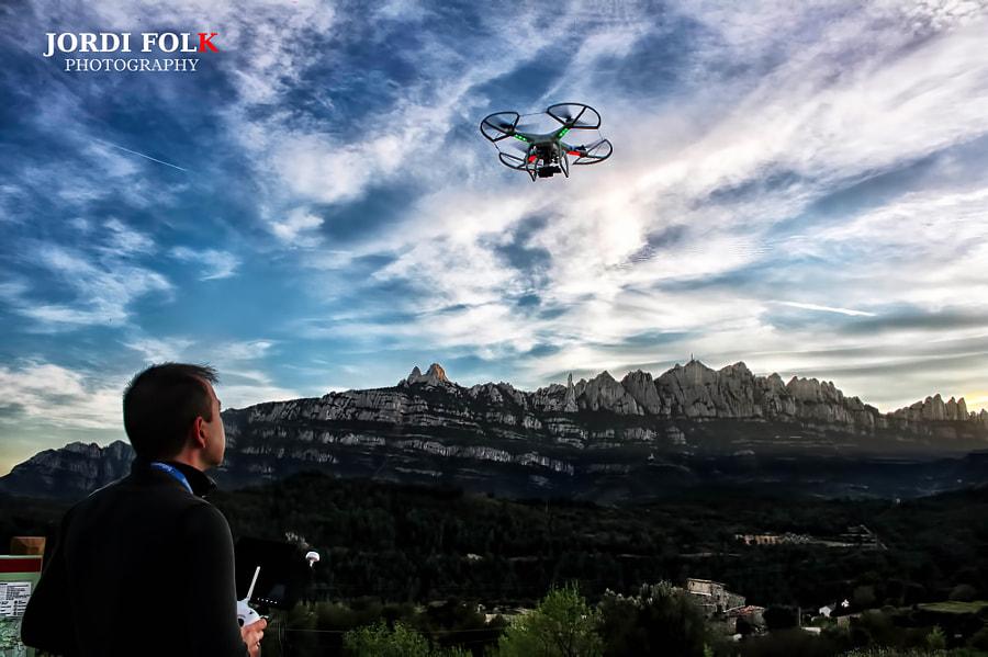 Drone pilot selfie