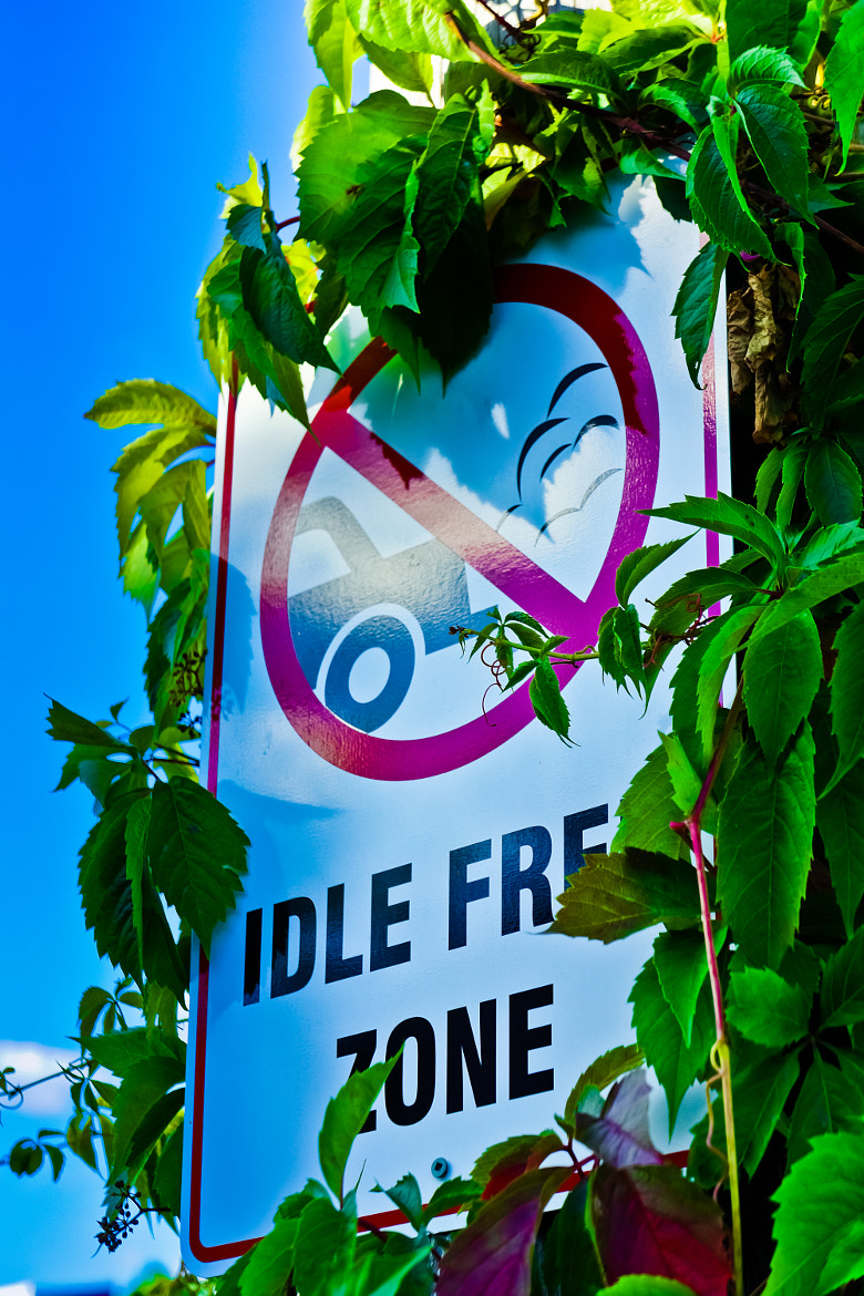 Photograph 0154 Unusual Sign - Idle Free Zone by Raymond Huynh on 500px