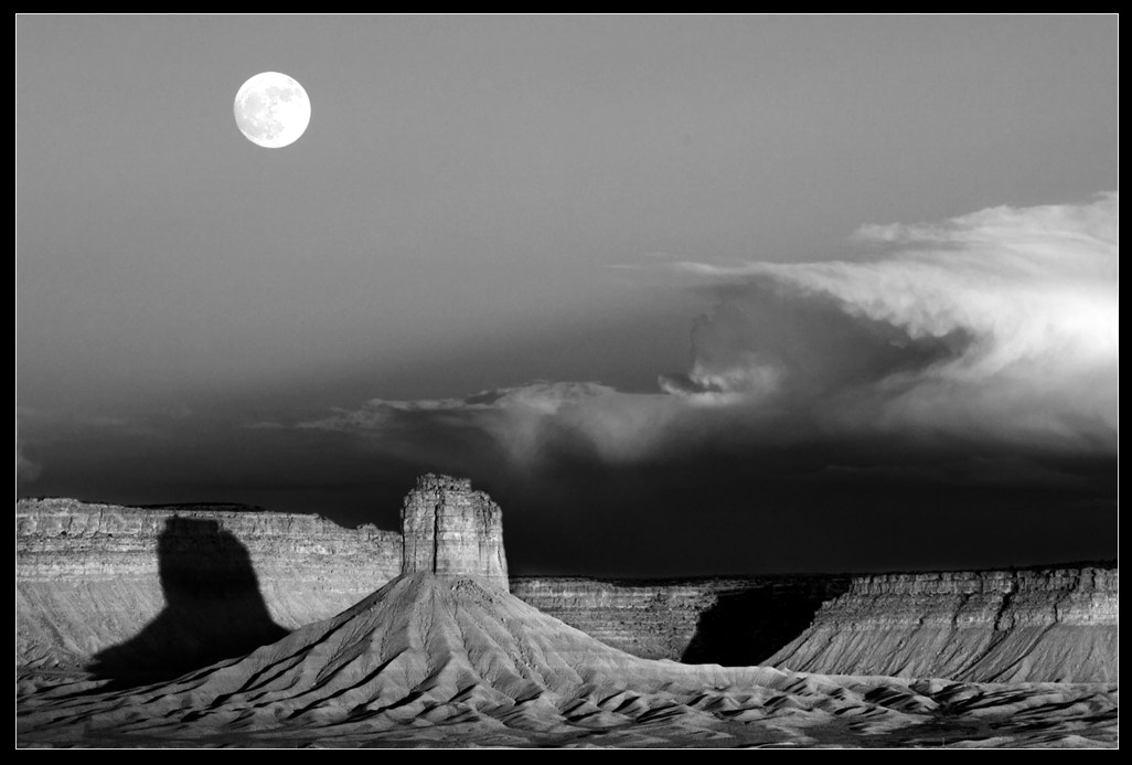 Photograph Moonrise Over Chimney Rock by John Mumaw on 500px
