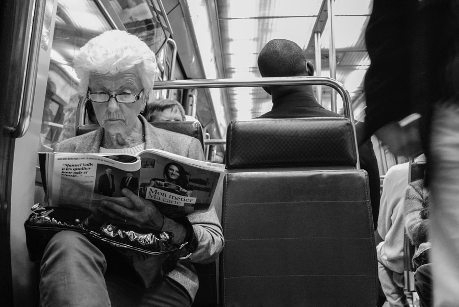 Photograph Lady Reading by Pedro Carreira on 500px