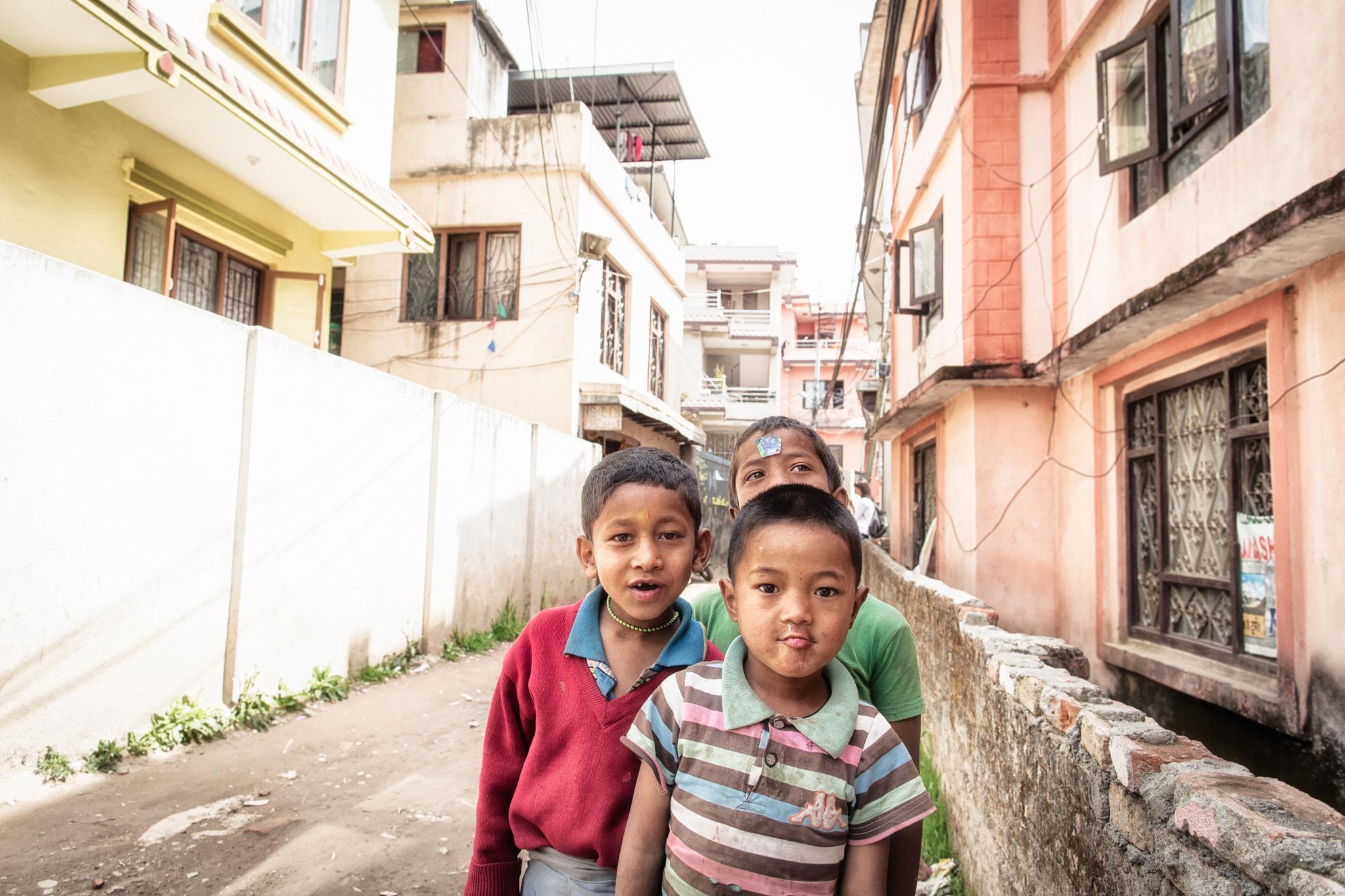 Kids in Kathmandu