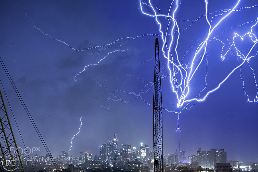 Multiple CN Tower Strikes by Richard Gottardo (RichardGottardo) on 500px.com