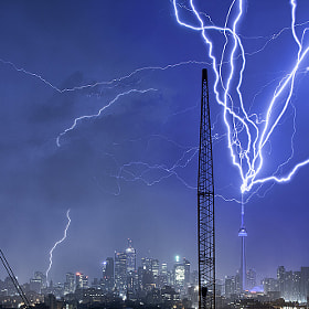 Multiple CN Tower Strikes by Richard Gottardo (RichardGottardo)) on 500px.com