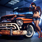 ������, ������: Texas Pinup with Pickup