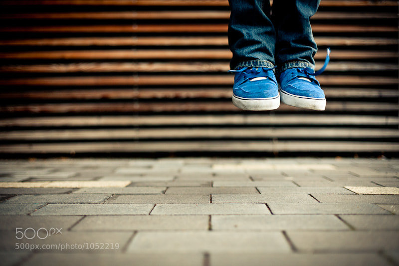 Photograph blue shoes by Basti S. on 500px