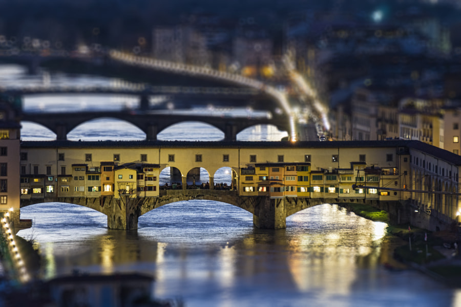 Tiny little Ponte Vecchio by Claudio Verga on 500px.com