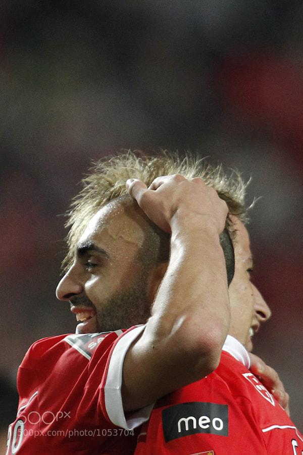 Carlos Martins e Fabio Coentrao, Benfica vs Guimaraes, Campeonato Nacional da Liga, 19.