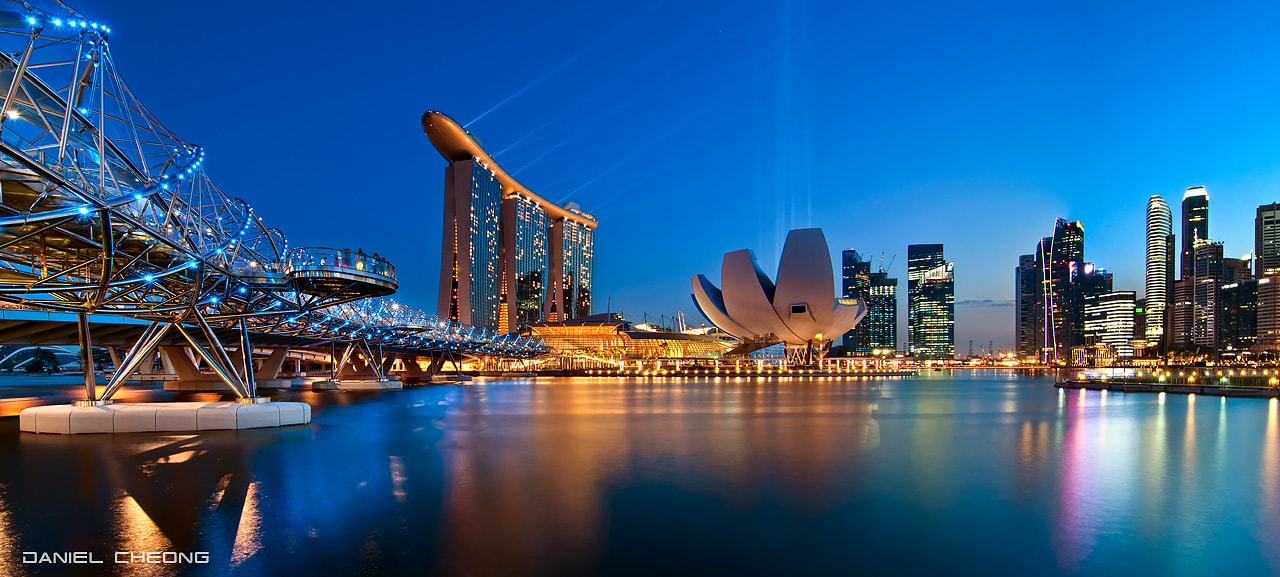 Photograph Helicoidal Blues by Daniel Cheong on 500px