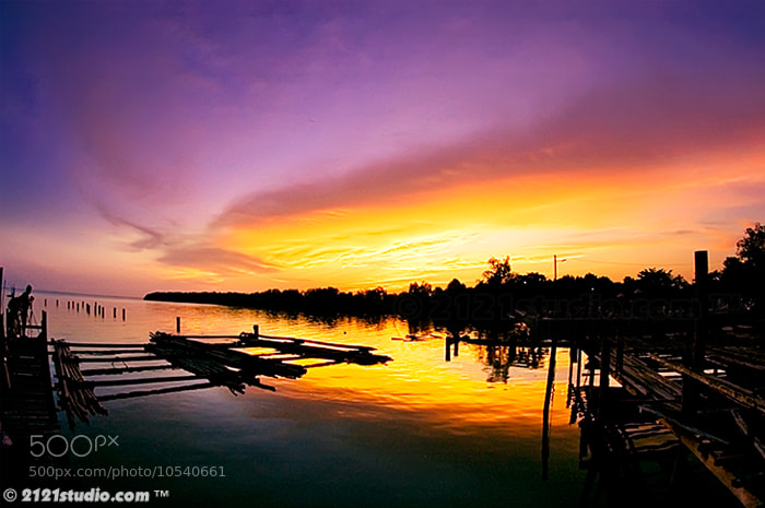 Photograph Afterglow @ Parit Jawa by dR ali Shamsul Bahar on 500px