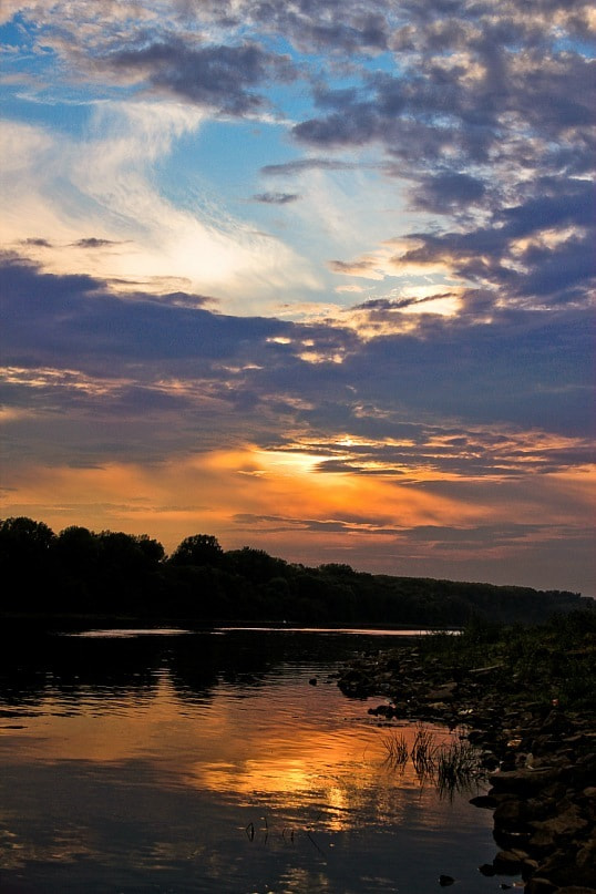 Photograph sunset on the river by Alice Sova on 500px