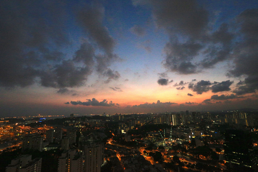 Sunset From the 50th Storey Skybridge
