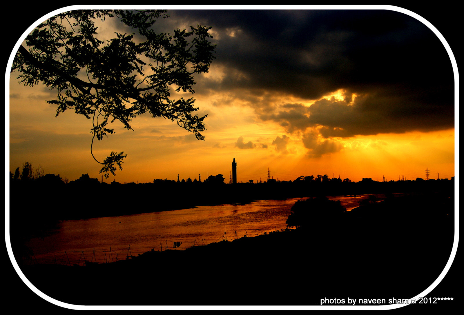 Photograph GLAMROUS SUNSETTING OVER RIVER GOMTI by naveen sharma on 500px