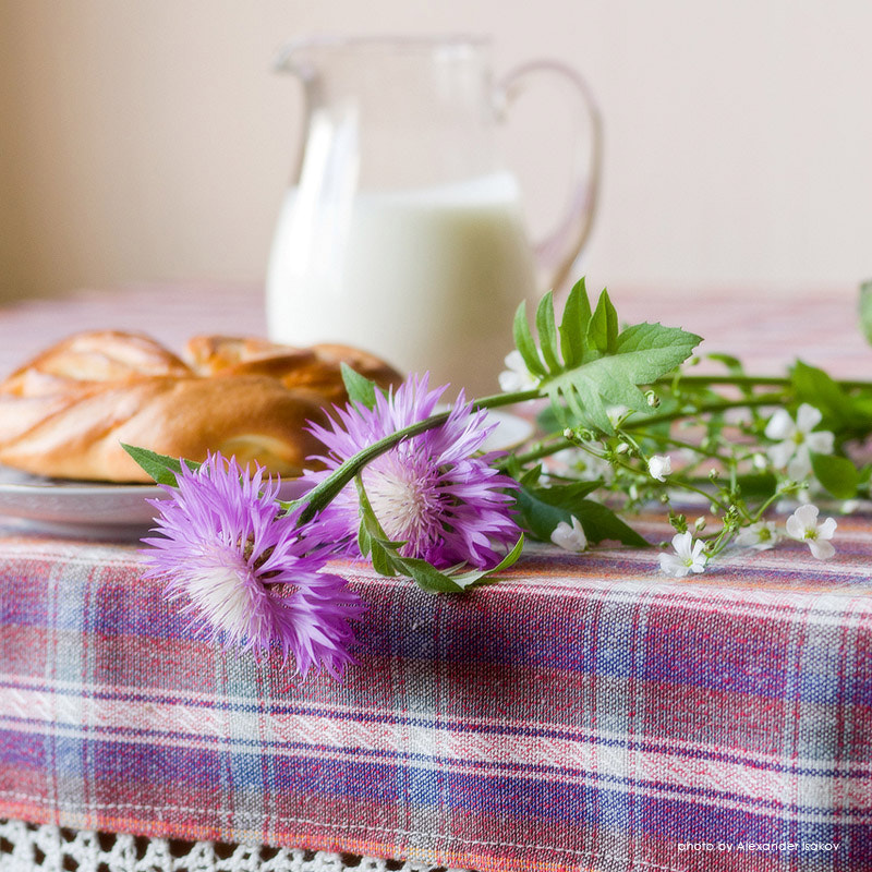Photograph Still life with flowers, bread and a jug of milk by Alexander Isakov on 500px