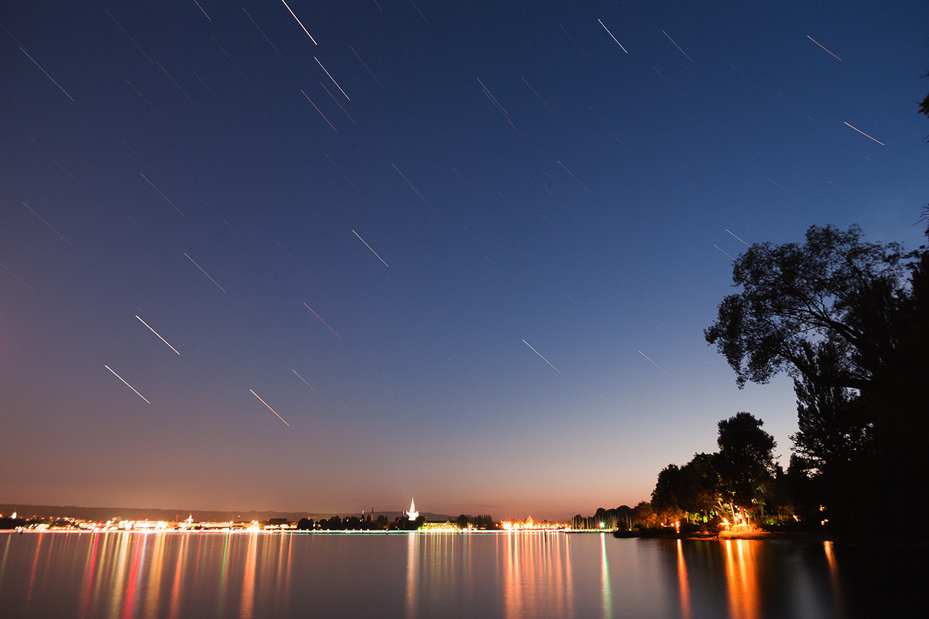 Photograph Stars over Konstanz by David Witte on 500px