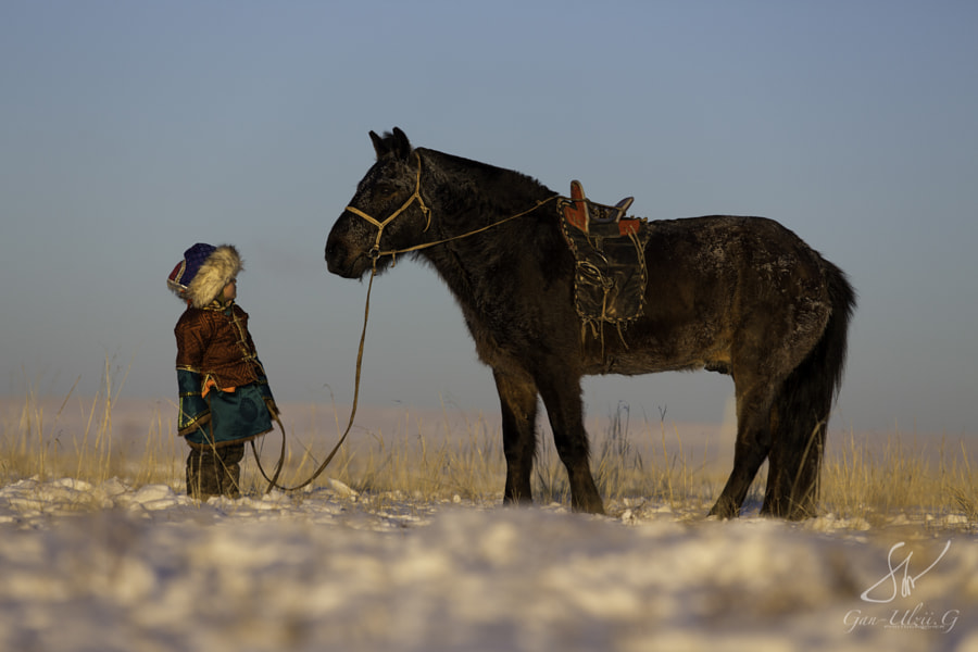 Photograph Mongolian boy by Gan-Ulzii Gonchig on 500px