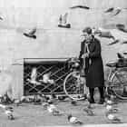 Woman with doves