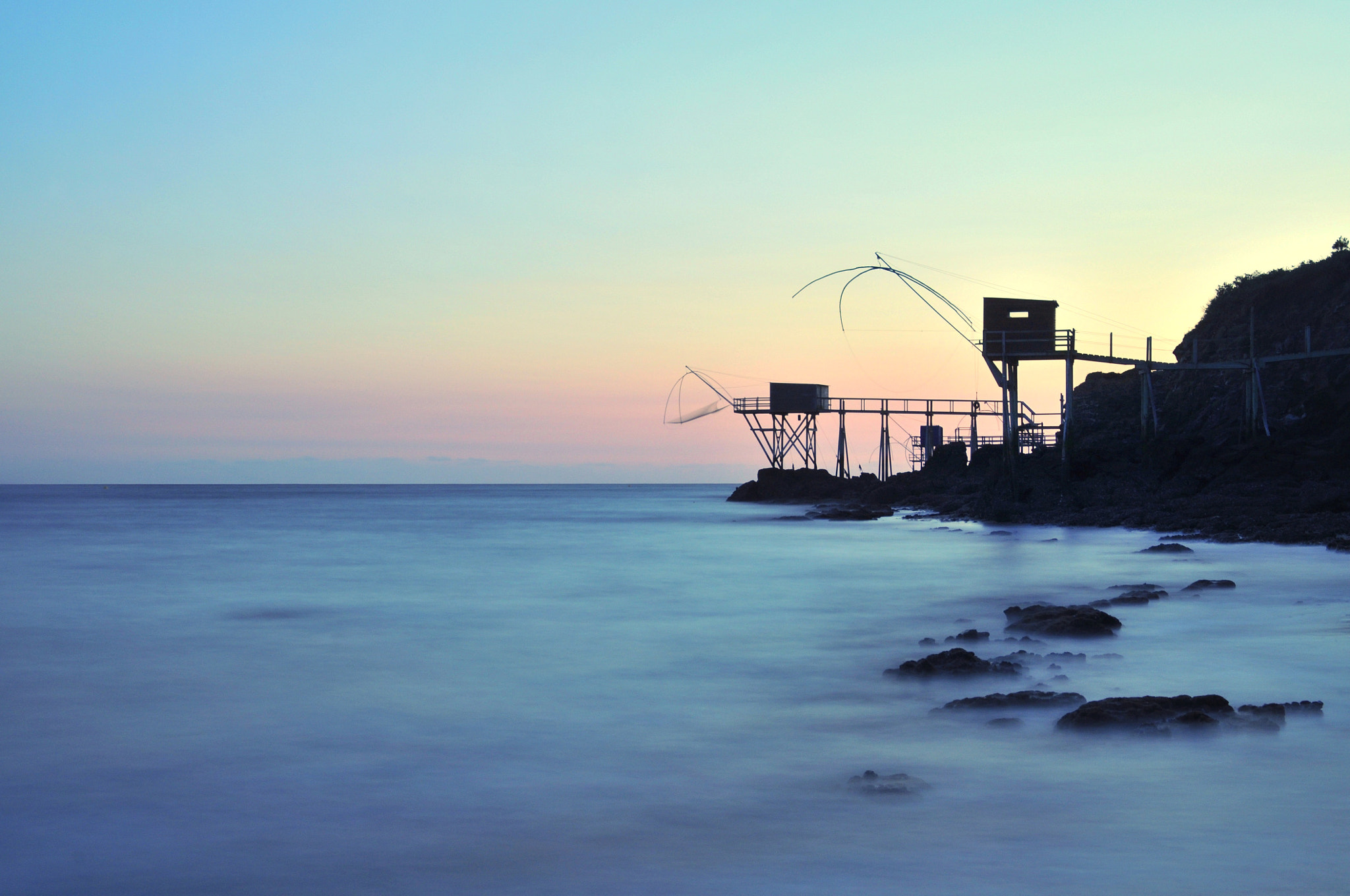 Photograph Cabanes pêcheurs aux carrelets Pornic by Thierry Perrier on 500px