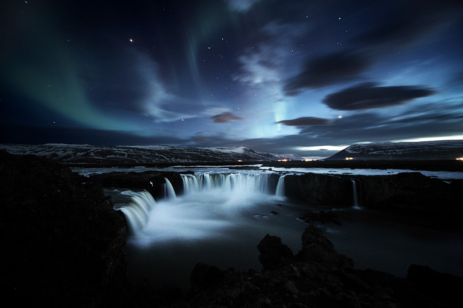 Photograph Goðafoss , Venus , Jupiter , Aurora ... by Kristofer Michaelson on 500px
