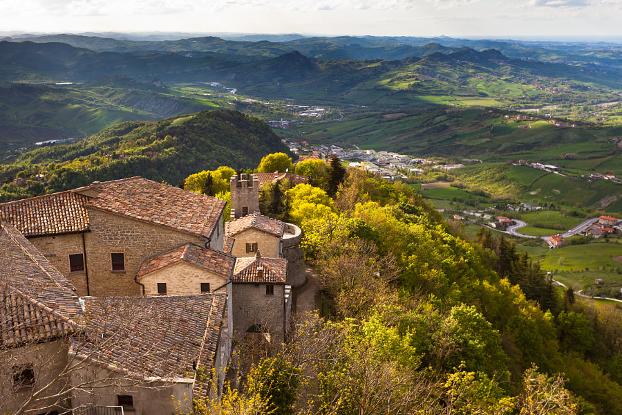 Photograph View from Titano mountain, San Marino at neighborhood by dvoevnore . on 500px