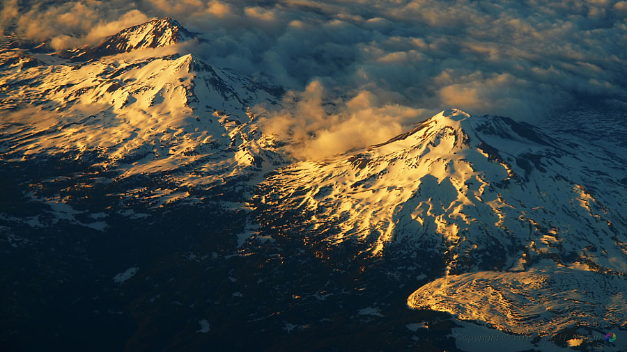 Photograph Three Sisters Sunset Aerial by shuttereye1 on 500px