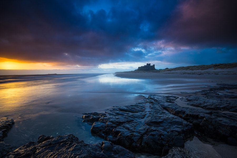 Bamburgh dark and light