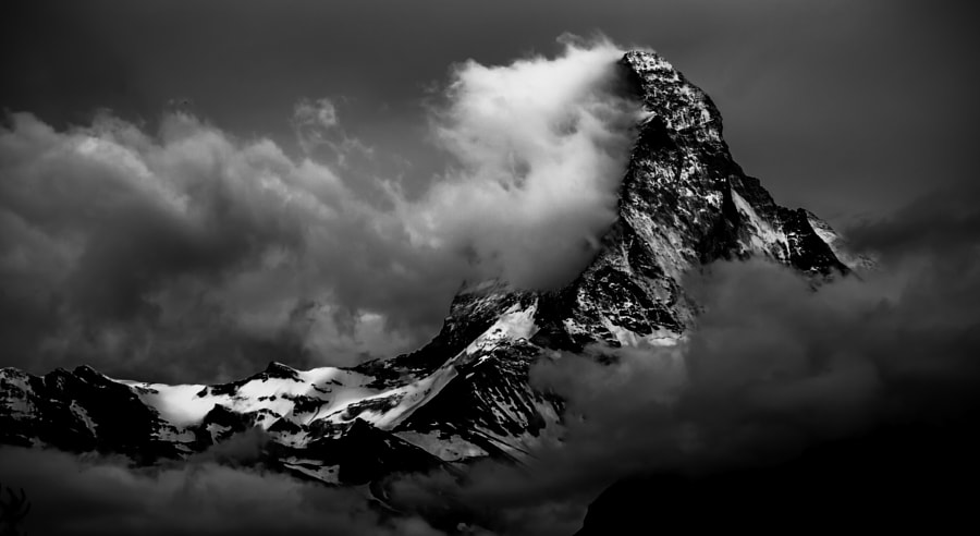 Photograph Matterhorn - Fighting with storm by Remigiusz Latek on 500px