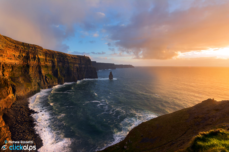 Photograph Cliff of Moher Sunset by Michele Rossetti on 500px