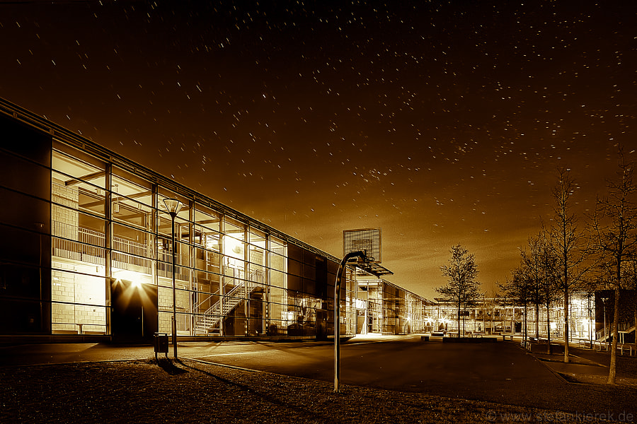 My school in the night