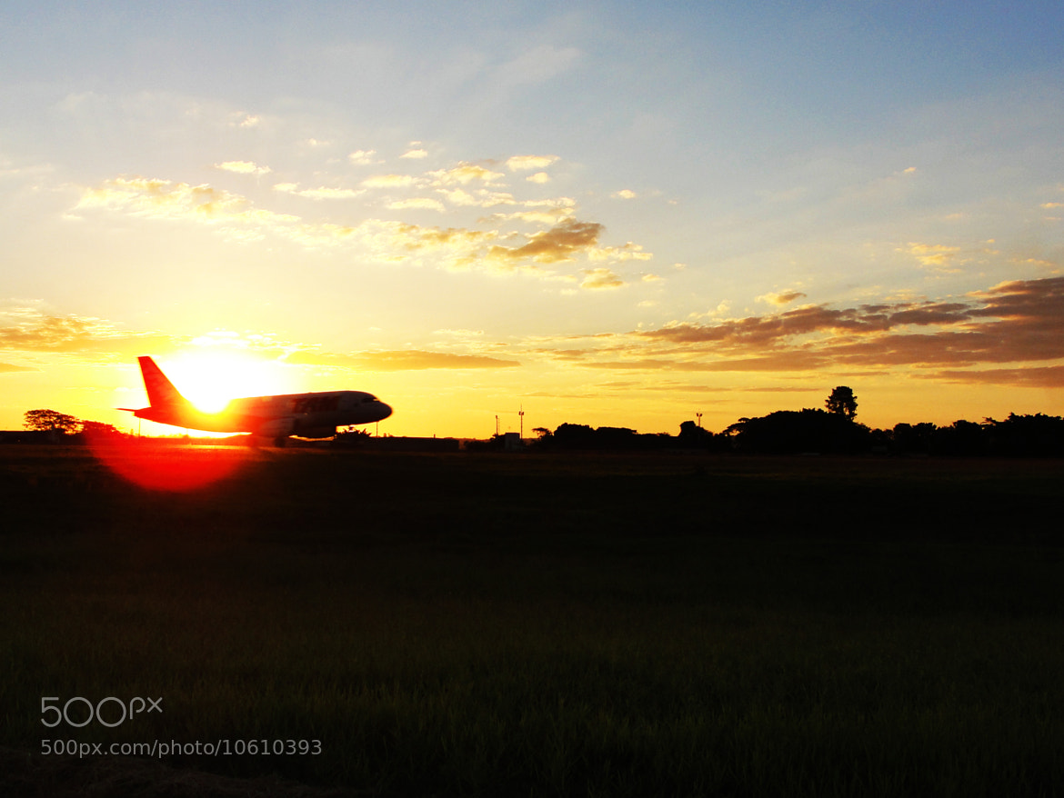 Photograph Sunset at Airport by Thiago Machado on 500px