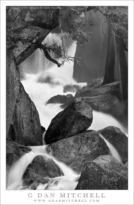 Photograph Mist, Trees, and Boulders - Cascade Creek by G Dan Mitchell on 500px