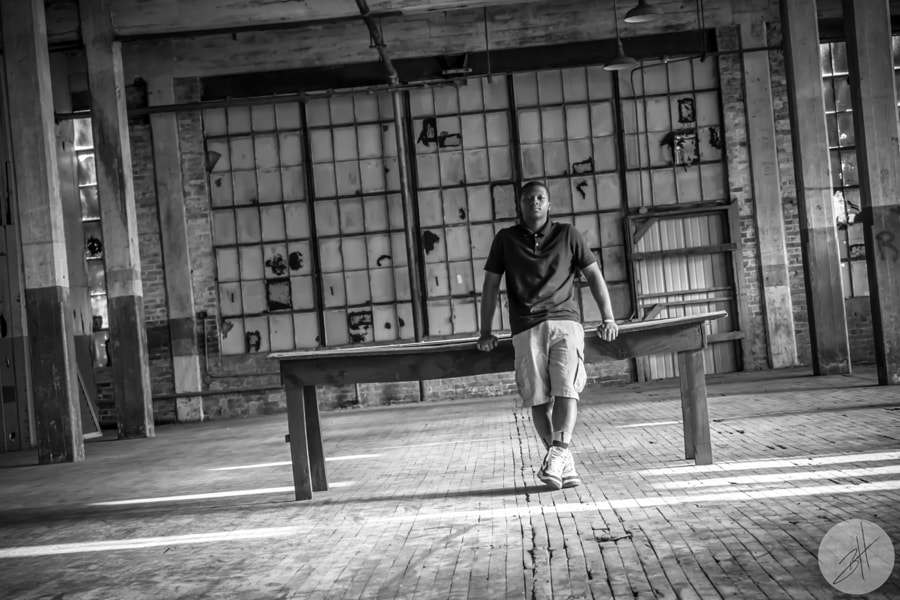 Jordan at the Cotton Mill BW