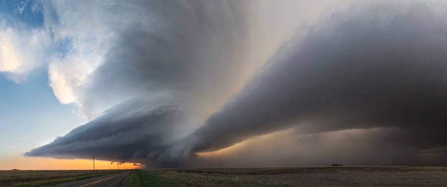 Photograph Lockney Panoramic Supercell by Kelly DeLay on 500px