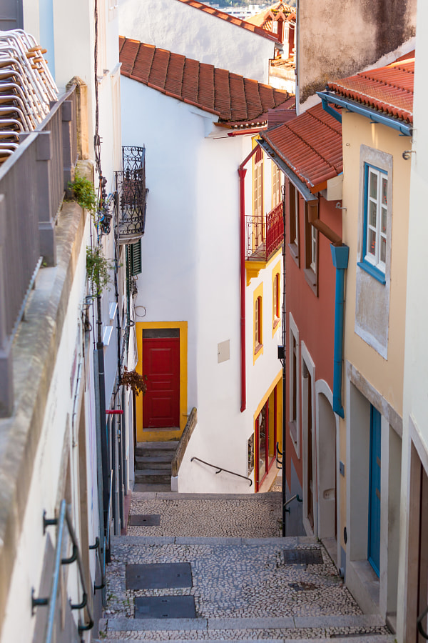 Photograph Narrow Street with Stairs in Old Town, Coimbra by dvoevnore . on 500px