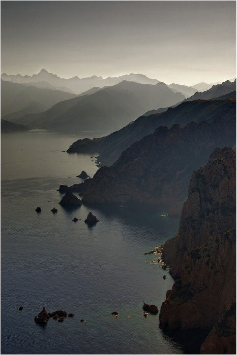 Photograph Sea and mountain, Corsica by John Barker on 500px