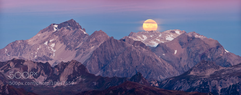 Photograph Full Moon over the alps by Johannes Netzer on 500px